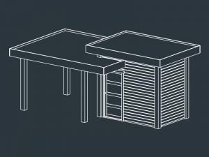 pool-house bois toit plat ACHILLE