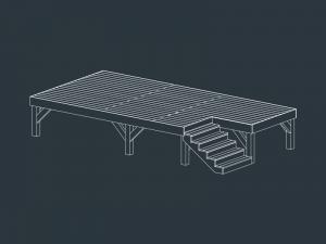 structure terrasse bois ELECTRE