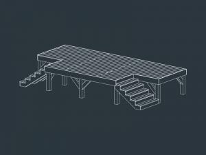 structure terrasse bois ERIS