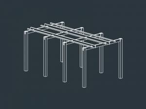 structure pergola terrasse bois claire voie HESTIA
