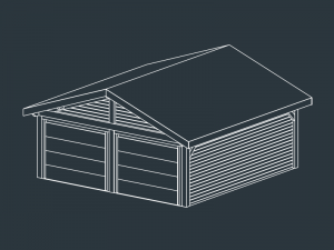 garage prefabrique bois INO