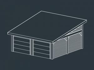 garage prefabrique bois IPHIGENIE