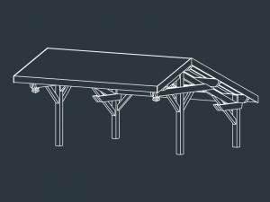 carport bois 2 pentes MENELAS