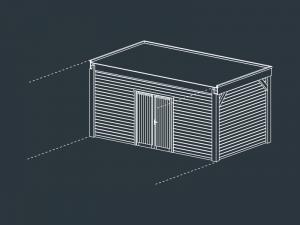 module A fermé carport bois