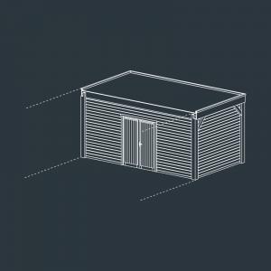 module fermé carport bois