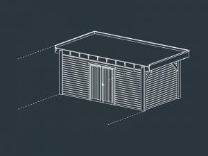 module B fermé carport bois