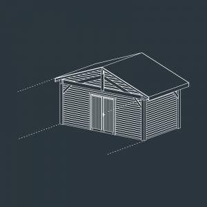 module C fermé carport bois