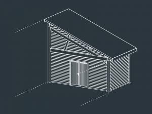 module D fermé carport bois